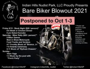 Postponed Biker Rally to Oct 1-3